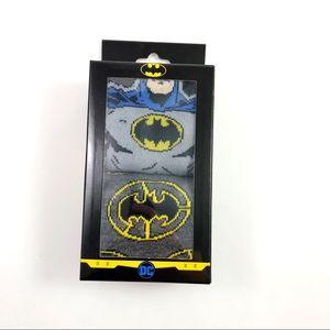 New Mens DC Comics Batman Crew Socks Size 6-12